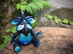 Polymer Clay Galaxy Dragon 'Milky Way' - Limited Edition Handmade Collectible by KatersAcres on Etsy