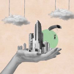 illustration Collages, Surreal Collage, Surreal Art, Collage Design, Collage Art, City Collage, Collage Illustration, Graphic Design Illustration, Photomontage