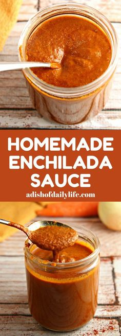 Ditch the canned sauce! This Homemade Enchilada Sauce recipe is very easy to make and tastes a lot better than canned! Ditch the canned sauce! This Homemade Enchilada Sauce recipe is very easy to make and tastes a lot better than canned! Recipes With Enchilada Sauce, Homemade Enchilada Sauce, Homemade Enchiladas, Homemade Sauce, Sauce Recipes, Turkey Enchiladas, Homemade Recipe, Diet Recipes, Mexican Dishes
