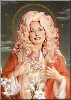 That does it. I've found my next tattoo. Our Lady of Country Music: Dolly Parton