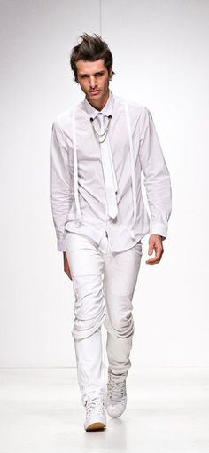 All white designs by Ashton Michael. #cdsavoiaartist Check out this short movie about the designer: http://www.cdsavoia.com/#/artists/ashton-hirota