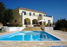 villa with private pool, sun terraces and extensive balconies. #Greece  #colourful #inspiring