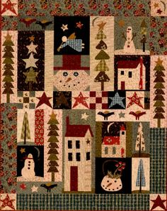 Larger Image - Christmasy, Wintery quilt.