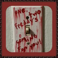 Check out this item in my Etsy shop https://www.etsy.com/listing/205080566/freddy-kreuger-1-2-freddys-coming-for