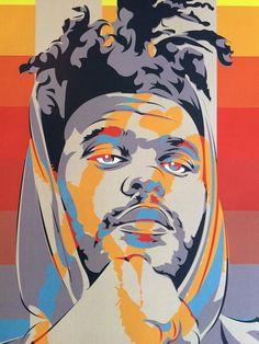 The Weeknd Digital Art Print by taylorlindgrenart on Etsy