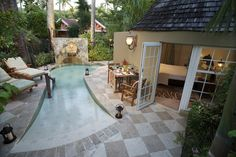 Private Plunge Pool in one of our suites at Sandals Grande Antigua | Sandals Resorts