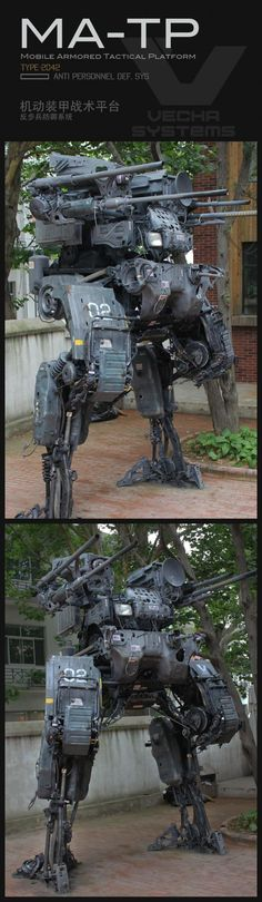 Guy turns his dad's old car into insanely detailed giant mech sculpture | Blastr