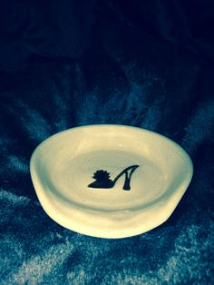 spoon rest  - pottery - stoneware - high heel - stilettos - saucer - pottery by Clayistherapy on Etsy
