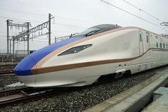 The Shinkansen -- Japanese Super High Speed Passenger Train!! 北陸新幹線 W7系