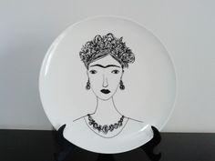 Prato decorativo - Frida