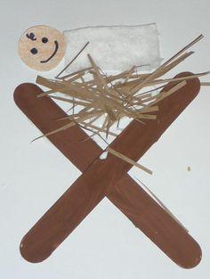 Preschool Christmas Crafts Jesus | Jesus in the Manger preschool Christmas craft. This is what I ... | M ...