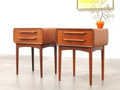 On the mod end of MCM...Mid Century Danish Modern Teak Nightstand by JOHANNES ANDERSEN