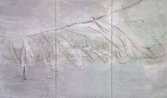 Tipping point, acrylverf en garen op doek, 2007, Michael Raedecker