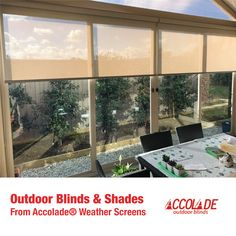 Glass doors and walls are lovely; they let you see the scenic view outside while staying indoors. But sometimes, you do wish they're shut for your privacy and that's what outdoor blinds and outdoor shade blinds are for. #OutdoorBlinds #PVCBlinds #Outdoor #Blinds