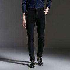 Men's Straight Dress Trousers