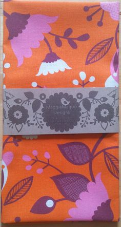 Orange floral tea towel available from https://www.facebook.com/pages/Maggiemagoo-Designs/1408541272798575?sk=photos_stream