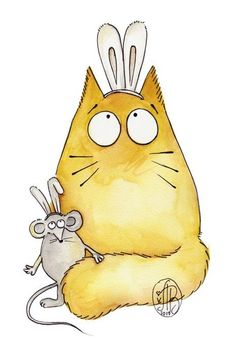 ru / Фото - Cats by Maria van Bruggan - Polterguist Cat Quilt, Cat Drawing, Illustrations, Whimsical Art, Cute Illustration, Crazy Cats, Cat Art, Animal Drawings, Cute Cats