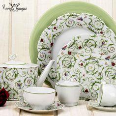 Fraises /& Butterflie Bone China Grand Petit Déjeuner Tasse Soucoupe Set décoré UK