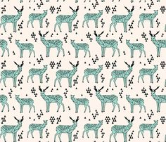 ©  Copyright  Andrea Lauren -  You are permitted to sell items you make with this fabric, but request you credit Andrea Lauren as the designer. Coordinates: Solids -- Warm, Solids - Cool, Dots  View other Deer, Hedgehogs, Squirrels in this Collection