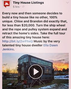 @tinyhouselistings just posted a video tour of a tiny using my original song 'Dirty Money' as the back track. The house is kick ass awesome and any time my music gets tied back to tiny houses I'm stoked! #tinyhouse #tinyhouses #tinyhousemovement #music #originalsong #songwriter #singersongwriter #harp #harpsofinstagram #diy #ellaharp #notyourgrandmothersharp