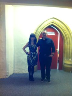 Werner and I before we went on stage for the last tour date... in Norwich