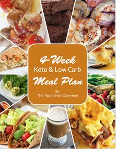 4 Week Keto & Low Carb Meal Plan - The Nourished Caveman