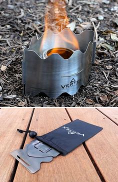 Vertex Ultralight Backpacking Stove - $45. Packs down smaller than a trailmap, weighing only 1.8 ounces. Bring your own fuel, either superlight Esbit fuel tablets, or the Trangia alcohol burner.