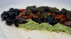 Blueberry Chimichurri fajitas