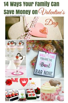 14 Ways Your Family Can Save Money on Valentines Day- Many ways for your family to save on Valentine's Day. a whole list of fun Valentine's Day ideas for you to use! Free printable and parties ideas to yummy treats. I am sure you will find something for your Valentine celebration