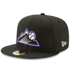 Colorado Rockies New Era Diamond Era 59FIFTY Fitted Hat - Black