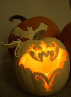 Bat Scrollwork Pumpkin » WebSpinstress Gothic Halloween