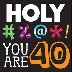 Birthday gift:Holy Bleep You're 40 Lunch Napkins 16 Per Pack 40th Birthday Quotes, Happy 40th Birthday, 40th Birthday Parties, Birthday Images, Birthday Party Decorations, Birthday Wishes, Birthday Lunch, Birthday Greetings, Birthday Funnies