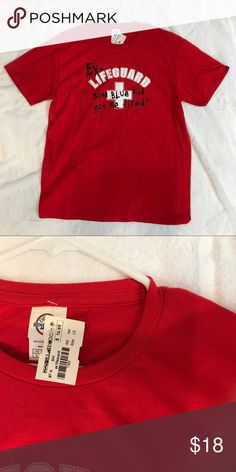 """938022169c3 Billabong Graphic Tee NWT Red Lifeguard T-shirt Large 100% cotton Chest 21""""  pit to pit Smoke free home Fast shipping Billabong Shirts Tees - Short  Sleeve"""