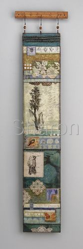 """Sharon McCartney. I know this is more """"fabric collage"""" but it's on this board to remind me that I love to do wall hangings!"""