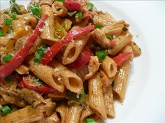 Southern Penne Pasta With Chicken from Food.com:   This recipe is from a local grocery store.  A little cajun kick to your everyday chicken alfredo.  I did research and made sure there was not a typo.  The original recipe does call for 2T of Cajun seasoning but please season to your own taste.  Thanks for the reviews.