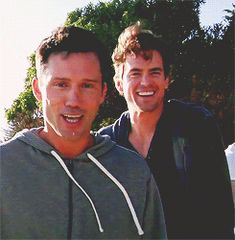 Jeffrey Donovan & Matt Bomer. Ughhh USA finds the most amazing men to star in their shows