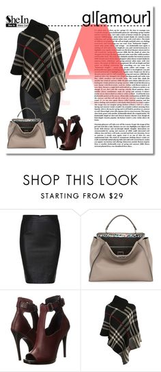 """SheIn gl[amour]"" by alialeola ❤ liked on Polyvore featuring Fendi, McQ by Alexander McQueen, Chloé and Pilot"