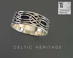 Silver cast Celtic pattern ring.