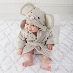 Adorable Baby Spa Robe - Mouse ... Price: $39.99 ... Where to Buy: AlwaysFits.com #baby #mouse
