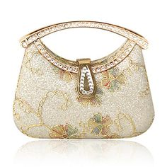 Satin With Rhinestone/ Glitter Evening Handbags/ Clutches/ Top Handle Bags More Colors Available – USD $ 27.99