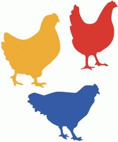 Silhouette Design Store - View Design #77147: chicken silhouette trio