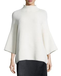 The Row Argena Funnel-neck Knit Sweater, Off White Clothes For Sale, Clothes For Women, Funnel Neck, Pullover Sweaters, Tunic Tops, Knitting, Fashion Design, Neiman Marcus, Bergdorf Goodman