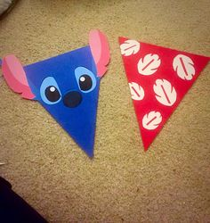 Lilo & stitch birthday banner. Theres a cute banner on pinterest but it had no instructions or ways to buy it so i used a pinterest printable for the lilo part and printed 2 different pictures on google for stitch ears and the stitch face. Lilo and stitch birthday party. Lilo and stitch birthday. -Stitch face: http://science-all.com/images/wallpapers/stitch-wallpaper/stitch-wallpaper-2.jpg -Stitch ears: http://weheartit.com/entry/61600641