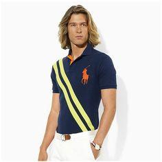 ralph lauren prix! Polo Ralph Lauren particulière hommes américaine ouverte  Neon Sash Big Pony 8e257aef427