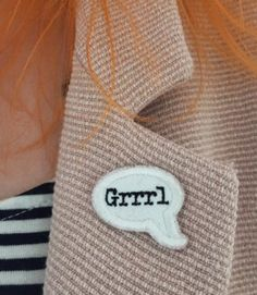 These feminist patches are seriously so edgy, and so beautiful Feminist Patch, Feminist Apparel, Hair Jewelry, Jewellery, Riot Grrrl, Ginny Weasley, Grl Pwr, Ice Queen, Pin And Patches