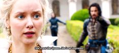 "Aramis protecting the Queen | BBC Musketeers | Season 3 | GIF Part 2 of 4 | ""She's not the Queen. She's an imposter!"""