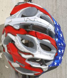 Another take on the US flag on a helmet.