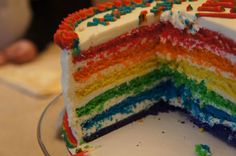 The rainbow cake connection with buttercream recipe from a real person