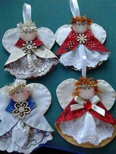 Diy Christmas Angel Ornaments, Christmas Nativity, Felt Ornaments, Christmas Angels, Handmade Christmas, Christmas Crafts, Christmas Decorations, Christmas Tree, Angel Crafts