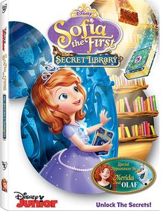 Sofia the First teams up with Merida & Olaf in The Secret Library | #Disney #Frozen #Brave